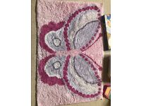 Girls butterfly rug from Next