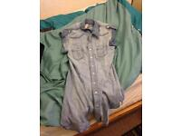 Demin shirt dress size 10 £ 3