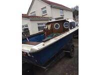 16ft fishing boat, 12ft speed boat, trailers