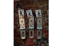 THREE GALVANISED GATE LATCHES 5 POUNDS THE LOT