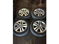 GENUINE VAUXHALL ZAFIRA B 2005-2012 SET OF ALLOY WHEELS WITH GOOD TYRES