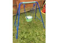 Children's / toddler swing - converts to older swing with flat seat