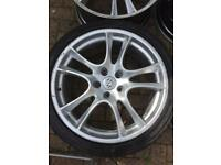 "22"" Porsche Cayenne Turbo Alloy wheels rims - WILL FIT AUDI Q7 VW TOUAREG AND OTHERS - 5x130 alloys"