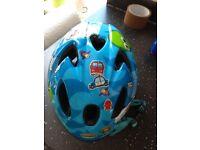 Raleigh Rascal Kids Childrens Bike Helmet Pirate Blue Cycle 44-50cm Junior