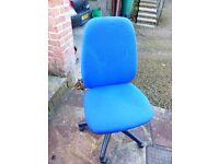 Blue gas lift computer chair