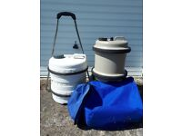 Aqua roll & water hog containers
