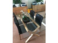 Habitat dining table x 4 chairs