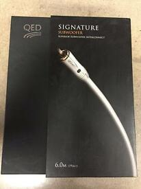 QED Signature Subwoofer 6m Cable