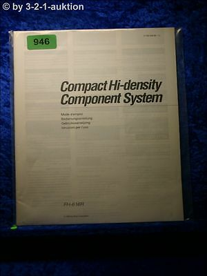 SONY BEDIENUNGSANLEITUNG FH 616R COMPONENT SYSTEM 0946