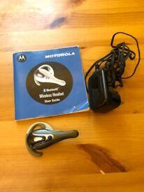 Motorola Bluetooth wireless headset