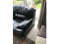 Black leather chair .. large
