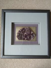 Framed Slice of Chevron Amethyst