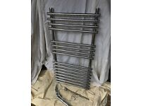 Heated towel rail both water and electrically heated (small size)