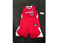 NBA jersey and shorts, new with tags