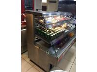 Display fridge 375/ small hot cabinet 185/gas cooker 245.