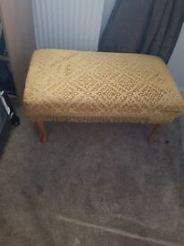 Footstool in solid condition