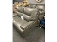 NEW 2x2 modern leather sofas-full recliner