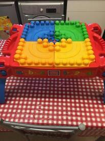 Mega bloks table.