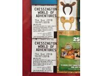 2 Chessington world of adventure tickets valid on 10/07/18 only