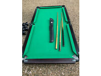 Snooker Table - half size 6ft x 3 ft 6ins - wood construction
