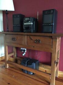 Console Table, Small Storage Unit