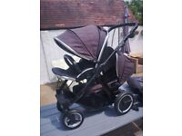 Oyster max 2 double pushchair good condition