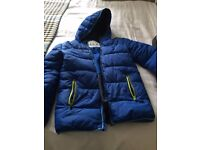 M AND S SUPERIOR MAKE 13-14 YEARS PUFFER JACKET + HOOD