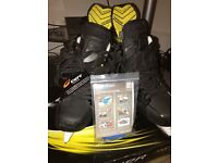 U.K. 10. Bauer supreme mx3 limited edition black ice hockey skates