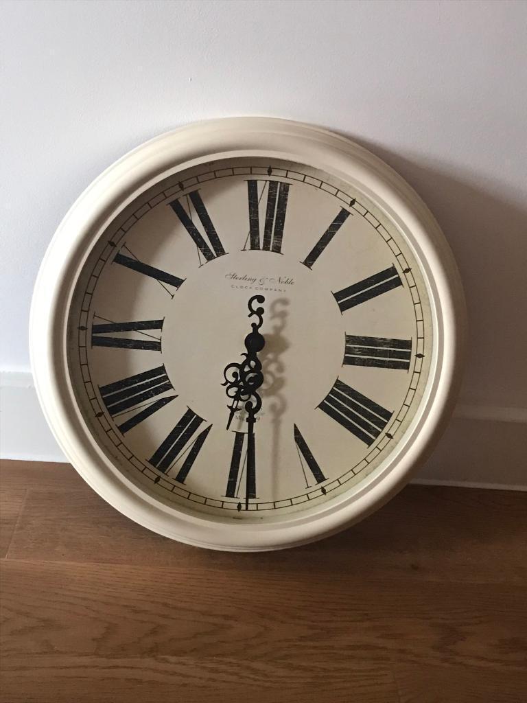 Cream Antique Style Wall Clock