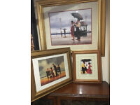 3x Great Jack Vettriano Framed Prints - The Shape of Things to Come, Mad Dogs & Bad Boy Good Girl