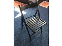 6 Black dinning table chairs