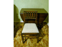 Ercol table and four chairs