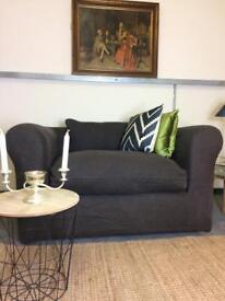 Habitat Louis Compact Sofa in Chocolate Linen RRP £1300