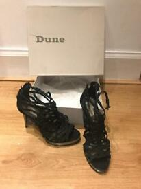 Excellent condition strapped dune high heels