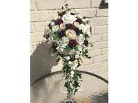 Bridal teardrop bouquet £45 &bridesmaids bouquet £18