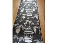 10 Rolls Black/Silver Bird Nest Wallpaper