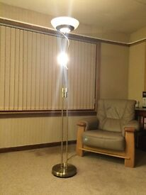 Contemporary Uplighter with Reading Lamp