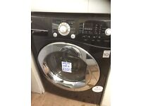 LG gloss black washer dryer with steam function £225