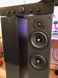 Cambridge Audio Topaz AM5 AMP + S70 Floor Standing Speakers With Cables (Great Condition)