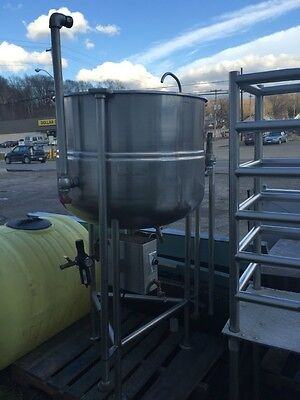 Groen Kettle Steam Jacketed 100 Gallon Kettle With 3 Pneumatic Discharge Valve