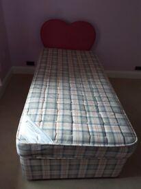 Single Divan Bed & Headboard