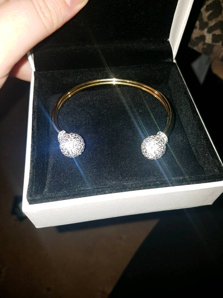 9ct gold & Silver bonded bangle