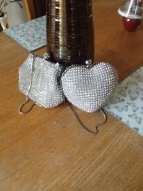 Two beautiful Debenhams designer diamond encrusted jewelled bags.