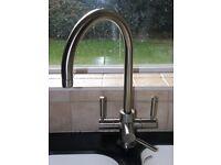 Brita Ceto 3 way brushed nickel mono-block water filter kitchen sink mixer tap