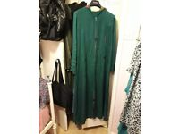 Turquoise green abaya/jilaba/long loose dress. Cotton material. Good condition. ONLY 15.