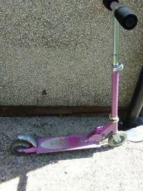 kids scooter purple.