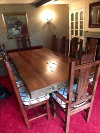 Dining room table & 10 chairs