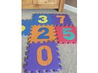 Foam Number Squares 0-9