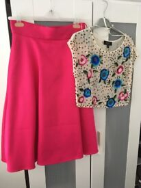 Coast skirt and top set. Royal blue corset back dress.