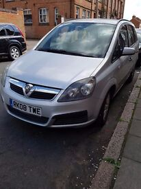 Vauxhall ZAFIRA 2008, 7 seater FOR QUICK SALE £2800 , ONLY 69900 miles, silver 1.9L DIESEL